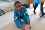 Learners made a simple Mars Rover Lander using a balloon and templates