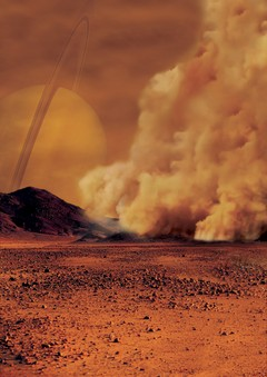 Dust Storm on Titan