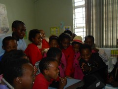 Learners singing a farewell song in Xhosa